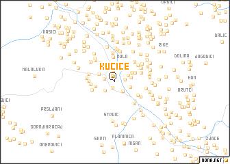 map of Kućice