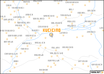 map of Kučičino