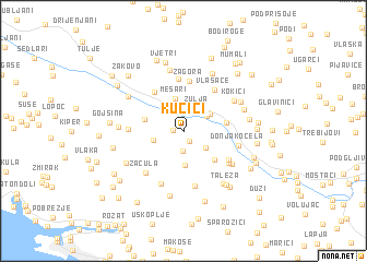 map of Kučići