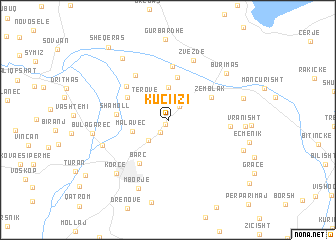 map of Kuçi i Zi