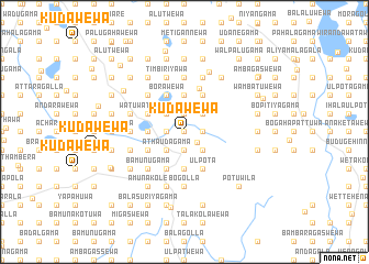 map of Kudawewa