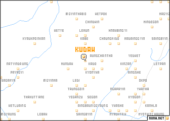 map of Kudaw