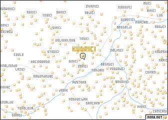 map of Kudrići