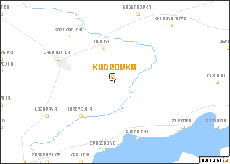 map of Kudrovka