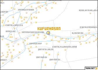 map of Kufūr Ḩasan