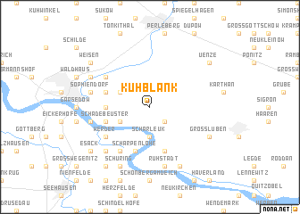 map of Kuhblank