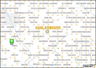 map of Kühlenbrunn