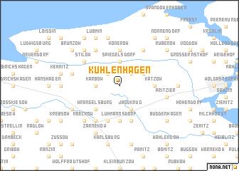 map of Kühlenhagen