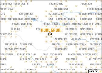 map of Kühlgrün