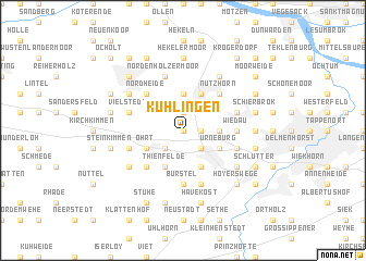 map of Kühlingen