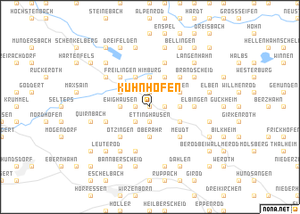 map of Kuhnhöfen