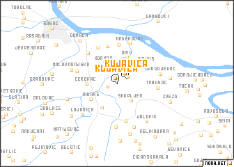 map of Kujavica