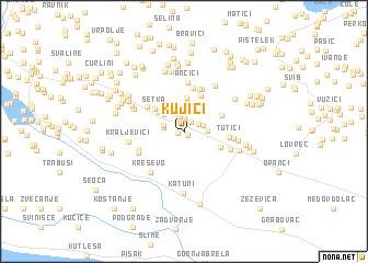 map of Kujići