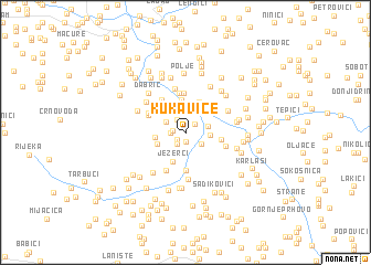 map of Kukavice