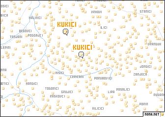 map of Kukići
