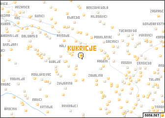 map of Kukričje
