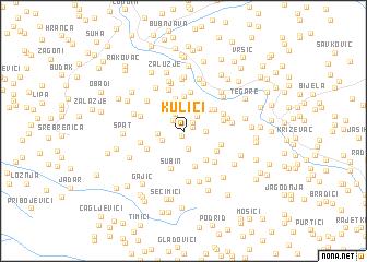 map of Kulići