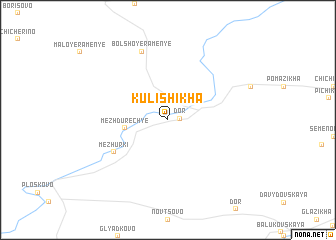 map of Kulishikha
