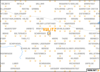 map of Külitz