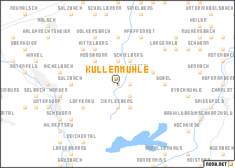 map of Kullenmühle