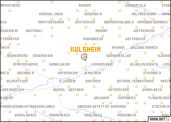 map of Külsheim