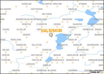 map of Kulšiškiai