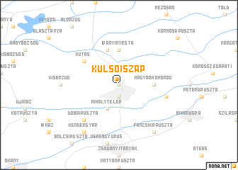 map of Külsőiszap
