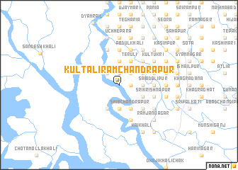 map of Kultali Rāmchandrapur