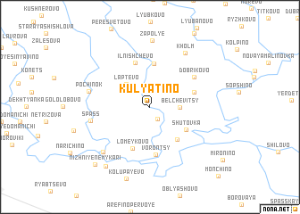 map of Kulyatino