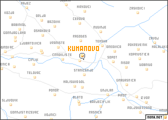 Kumanovo Serbia and Montenegro map nonanet