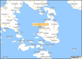 map of Kŭmbong-ni