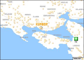 kumbor crna gora mapa Kumbor (Serbia and Montenegro) map   nona.net kumbor crna gora mapa