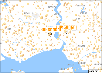 map of Kŭmgong-ni