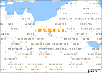map of Kummerow Heide