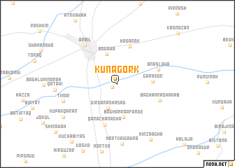 map of Kuna Gork