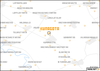 map of Kunágota