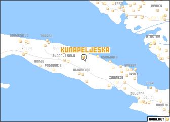 Kuna Peljeka Croatia map nonanet