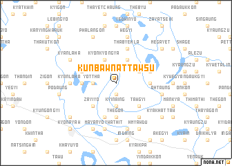 map of Kunbaw-nattawsu