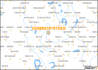 map of Kunbaw-zayatseik