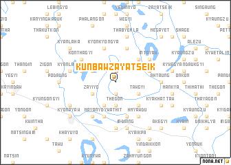 map of Kunbaw-zayatseik