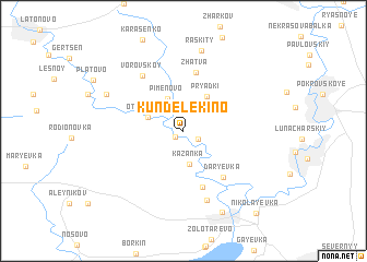 map of Kundelekino