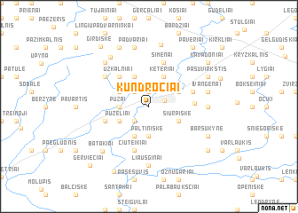 map of Kundročiai