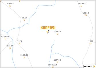 map of Kunfosi