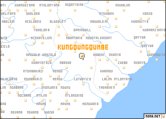 map of KuNgqungqumbe
