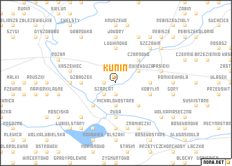 map of Kunin