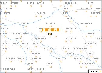 map of Kunkowa