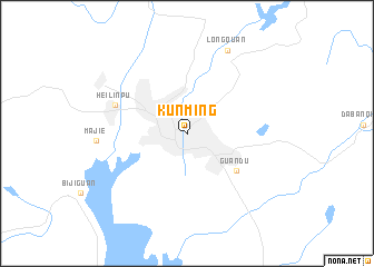 Kunming China Map Nona Net