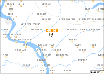 map of Kunon