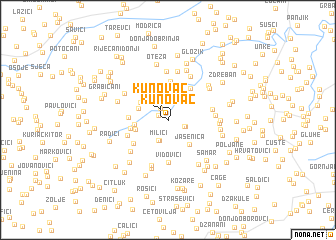 map of Kunovac