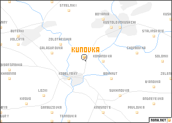 map of Kunovka